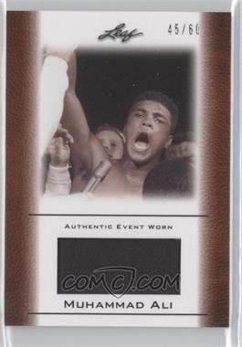 2011 Leaf Ali The Greatest Event Worn Memorabilia Swatch #EW-37 - Muhammad Ali /60