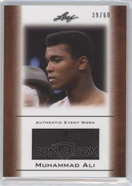 2011 Leaf Ali The Greatest Event Worn Memorabilia Swatch #EW-39 - Muhammad Ali /60