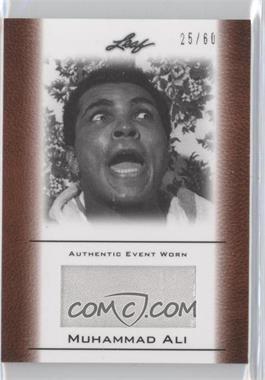 2011 Leaf Ali The Greatest Event Worn Memorabilia Swatch #EW-42 - Muhammad Ali /60
