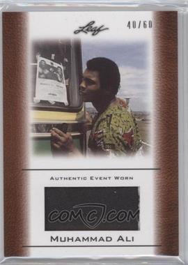 2011 Leaf Ali The Greatest Event Worn Memorabilia Swatch #EW-48 - Muhammad Ali /60