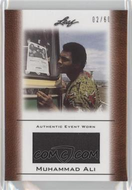2011 Leaf Ali The Greatest Event Worn Memorabilia Swatch #EW-48 - Muhammad Ali /60