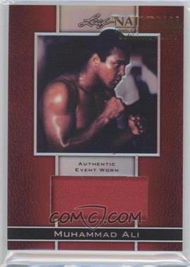 2011 Leaf Metal Ali Material Event Worn Red Prismatic National Convention #EWM-11 - Muhammad Ali