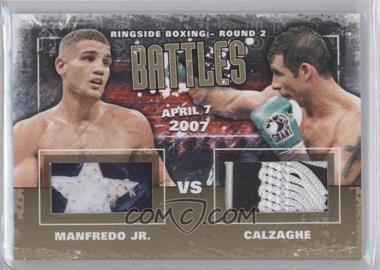 2011 Ringside Boxing Round 2 - Battles - Gold #B-01 - Peter Manfredo Jr., Joe Calzaghe