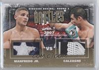 Peter Manfredo Jr., Joe Calzaghe