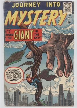 1952 - 1966, 1996 - 1998, 2011 - Present Marvel Journey Into Mystery #55 - I Found The Giant In The Sky! [Readable (GD‑FN)]