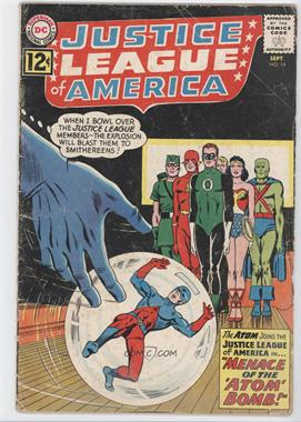 1960-1987 DC Comics Justice League of America Vol. 1 #14 - The Menace Of The Atom Bomb!
