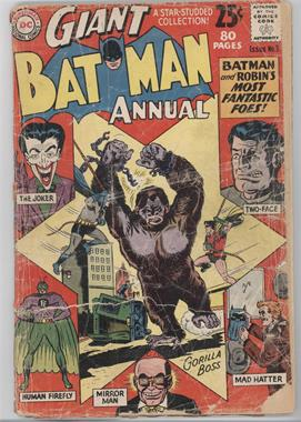 1961-2011 DC Comics Batman Annual #3 - Batman and Robin's Most Fantastic Foes! [Good/Fair/Poor]