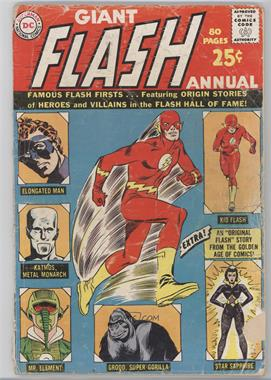 1963 - 1985 DC Comics Flash Annual #1 - Giant Flash Annual