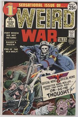 1971 - 1983 DC Comics Weird War Tales #1 - Fort Which Did Not  Return!