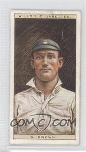 1928 Wills Cricketers - [Base] #3 - George Brown