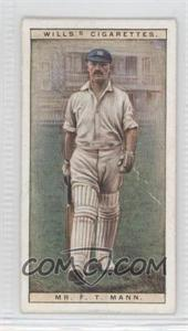 1928 Wills Cricketers - [Base] #31 - Mr. F.T. Mann [Good to VG‑EX]