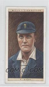 1928 Wills Cricketers - [Base] #38 - F. Ryan