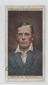 1928 Wills Cricketers - [Base] #50 - Mr. R.E.S. Wyatt