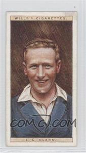 1928 Wills Cricketers - [Base] #6 - E.C. Clark