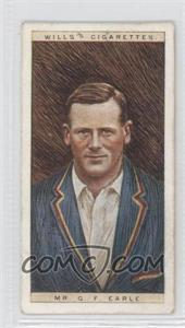1928 Wills Cricketers #11 - Mr. G.F. Earle [Good to VG‑EX]