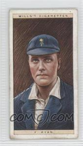 1928 Wills Cricketers #38 - F. Ryan [Good to VG‑EX]