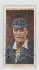 1928 Wills Cricketers #38 - F. Ryan [GoodtoVG‑EX]