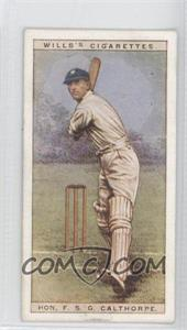 1928 Wills Cricketers #4 - Hon. F.S.G. Calthorpe