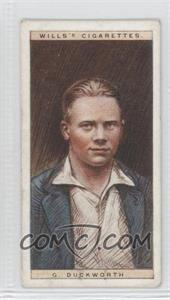 1928 Wills Cricketers #9 - G. Duckworth [Good to VG‑EX]