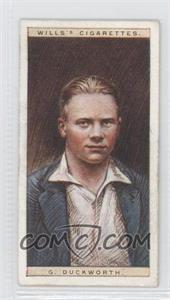 1928 Wills Cricketers #9 - G. Duckworth