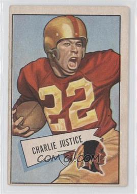 1952 Bowman - [Base] - Large #18 - Charlie Justice [GoodtoVG‑EX]