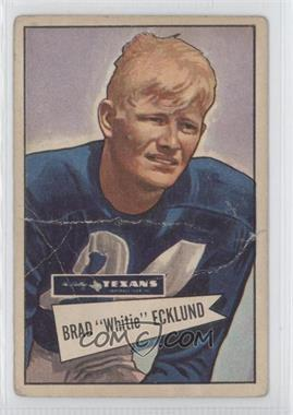 1952 Bowman - [Base] - Large #35 - Brad Ecklund
