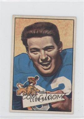 1952 Bowman - [Base] - Small #15 - Leon Hart [GoodtoVG‑EX]