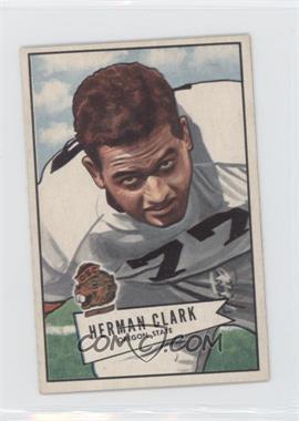 1952 Bowman - [Base] - Small #76 - Herman Clark