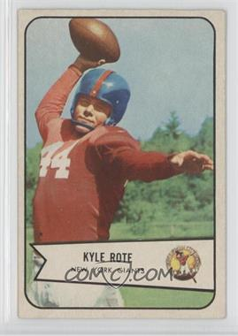 1954 Bowman #7 - Kyle Rote