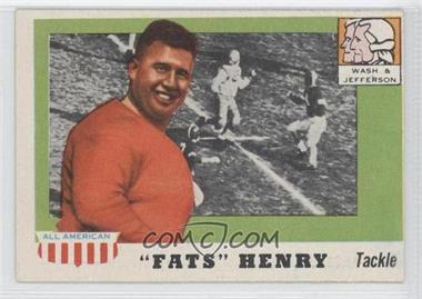 """1955 Topps All American - [Base] #100 - """"Fats"""" Henry [GoodtoVG‑EX]"""