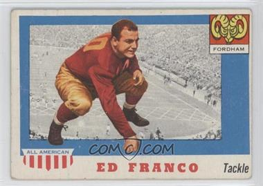 1955 Topps All American #58 - Ed Franco [Poor to Fair]