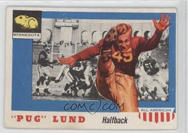 """1955 Topps All American #79 - """"Pug"""" Lund [GoodtoVG‑EX]"""