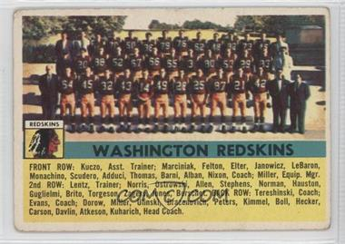 1956 Topps #61 - Washington Redskins Team [Good to VG‑EX]