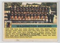 Washington Redskins Team [Good to VG‑EX]