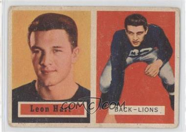1957 Topps #118 - Leon Hart [Good to VG‑EX]