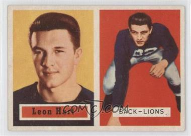 1957 Topps #118 - Leon Hart