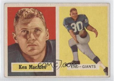 1957 Topps #144 - Ken MacAfee