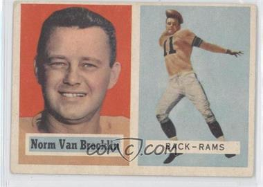 1957 Topps #22 - Norm Van Brocklin [Good to VG‑EX]