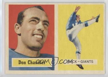 1957 Topps #23 - Don Chandler