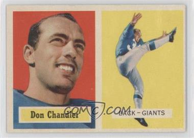 1957 Topps #23 - Don Chandler