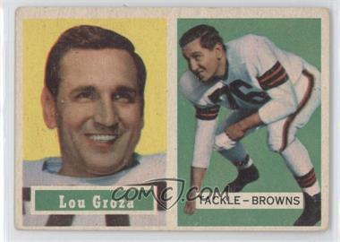 1957 Topps #28 - Lou Groza