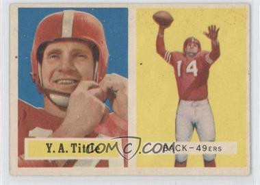 1957 Topps #30 - Y.A. Tittle