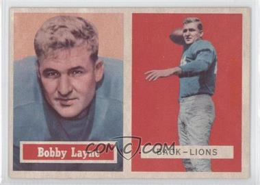 1957 Topps #32 - Bobby Layne