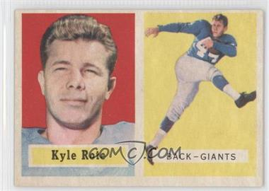 1957 Topps #59 - Kyle Rote