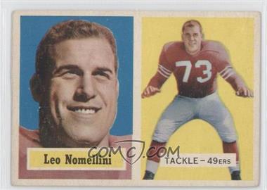 1957 Topps #6 - Leo Nomellini