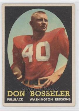1958 Topps - [Base] #132 - Don Bosseler