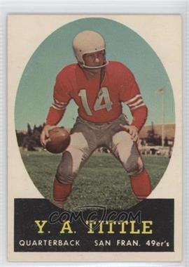 1958 Topps - [Base] #86 - Y.A. Tittle