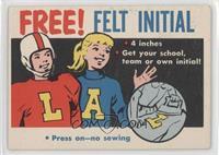 Free! Felt Initial [GoodtoVG‑EX]