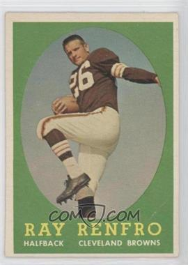 1958 Topps #17 - Ray Renfro