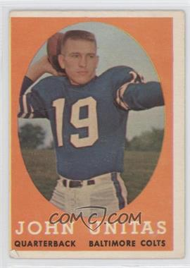 1958 Topps #22 - Johnny Unitas [Good to VG‑EX]